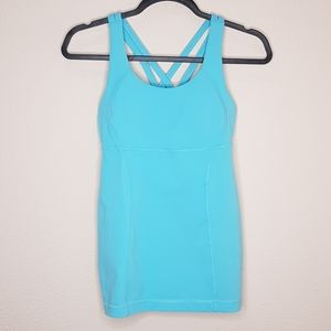 Lululemon Crisscross Strapy Tank Top in Powder Blu
